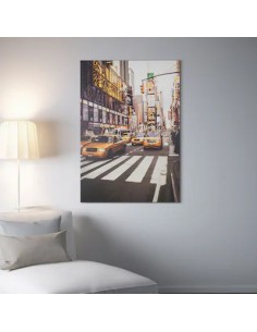 Reproduction, Taxi à New York, 70x100 cm